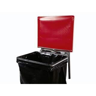 Väggfast säckhållare med plastlock | 30 liter