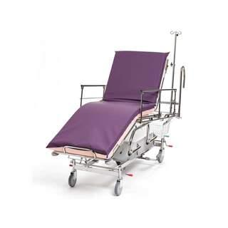 Potilas- ja hätävaunu 3-osainen, hydraulinen ohjaustanko
